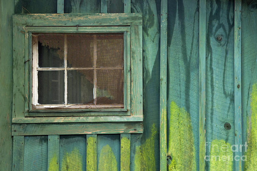 Cabin Photograph - Window To The Past - D007898 by Daniel Dempster