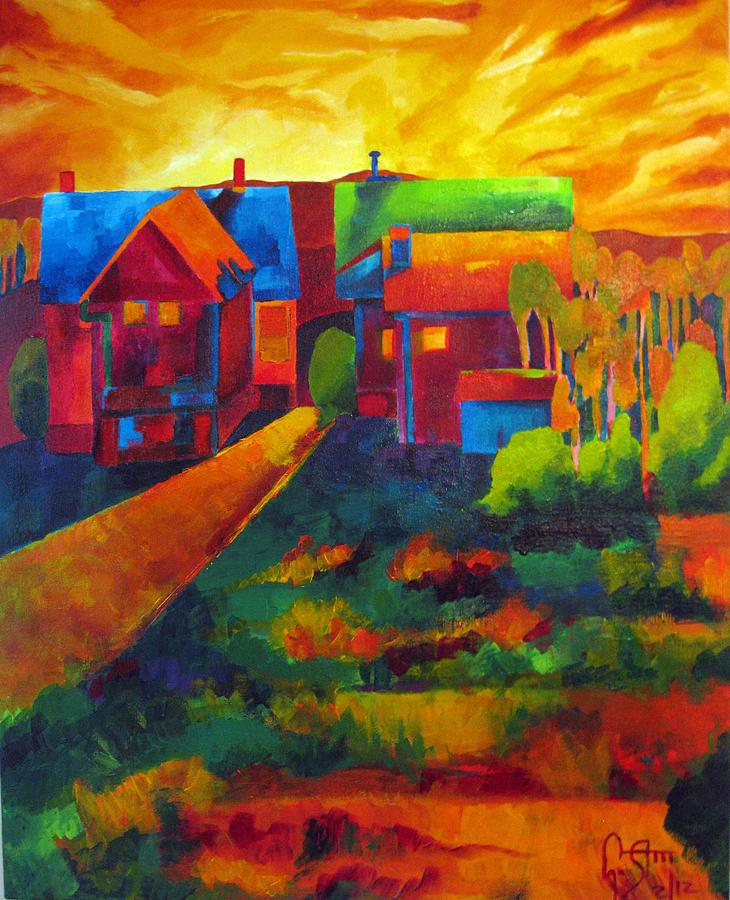 Landscape Painting - Window View by Dawnstarstudios