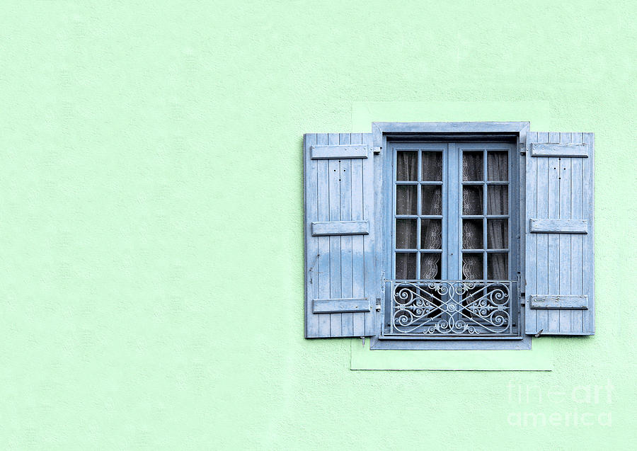 Architecture Photograph - Window With Copy Space by Jane Rix