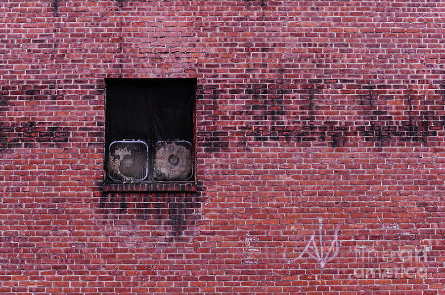 Window Photograph - Window With Fans by HD Connelly