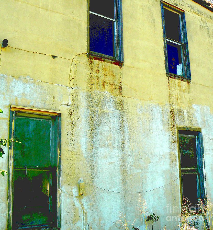 Wall Photograph - Windowed Wall Yearns by Lin Haring
