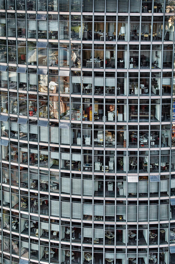 Vertical Photograph - Windows Again, Berlin by Eike Maschewski