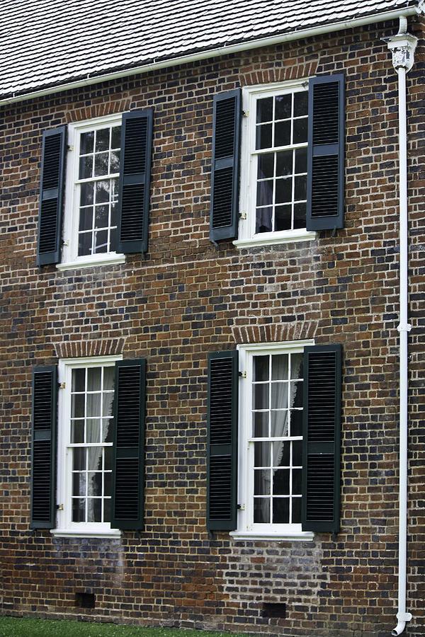 Appomattox Photograph - Windows At The Clover Hill Tavern Appomattox Virginia by Teresa Mucha