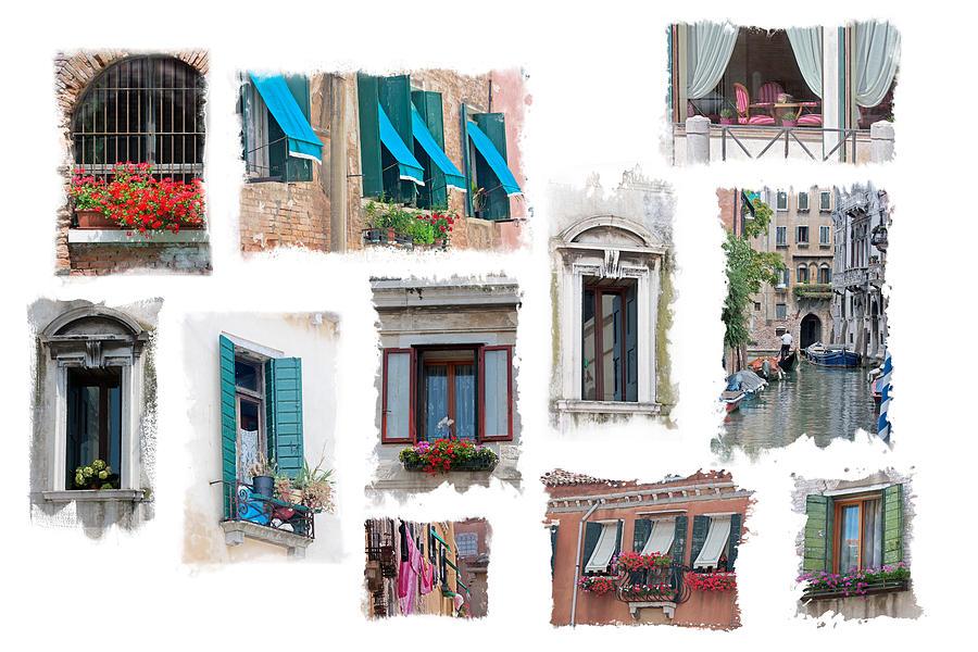 Venice Photograph - Windows Of Venice by Judy Deist