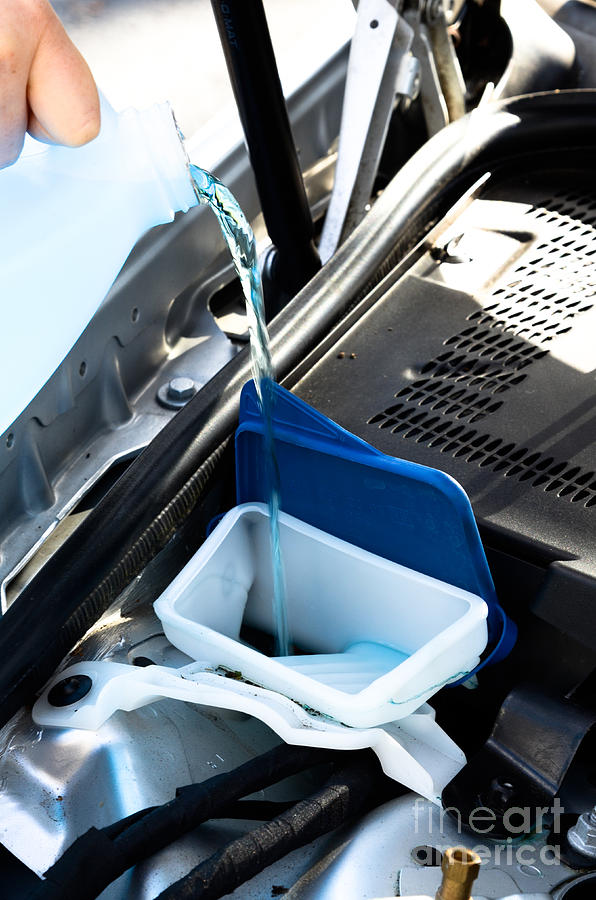 Auto Photograph - Windshield Cleaning Fluid by Photo Researchers