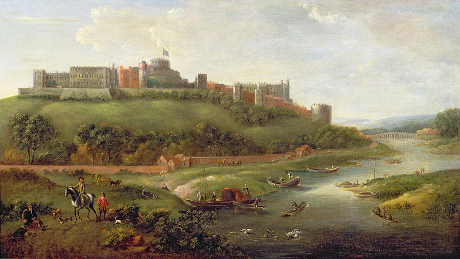 Windsor Painting - Windsor Castle by Hendrick Danckerts