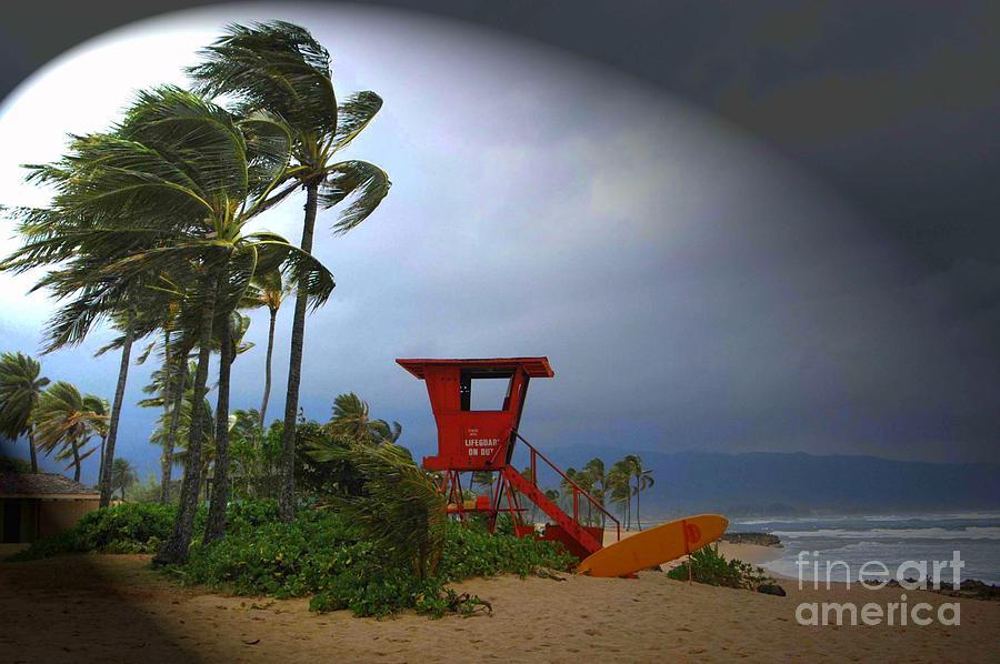 Hawaii Photograph - Windy Day In Haleiwa by Mark Gilman