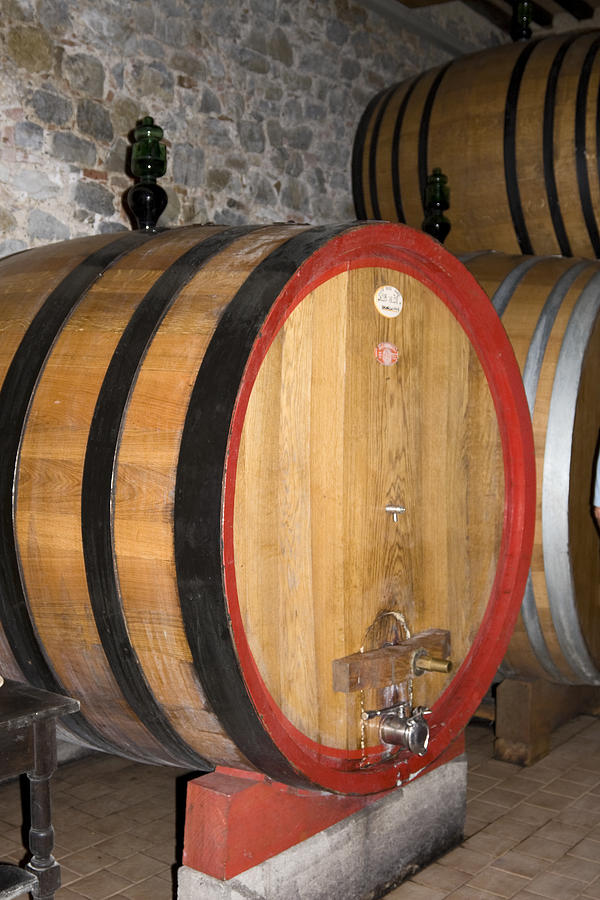 Wood Wine Barrels Photograph - Wine Aging by Sally Weigand