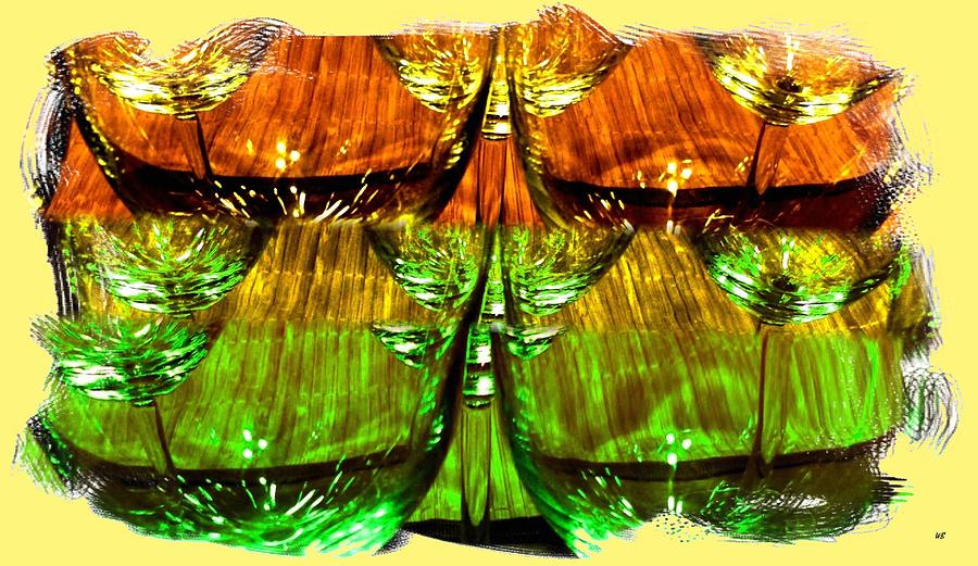 Wine Glasses Digital Art - Wine And Dine 2 by Will Borden
