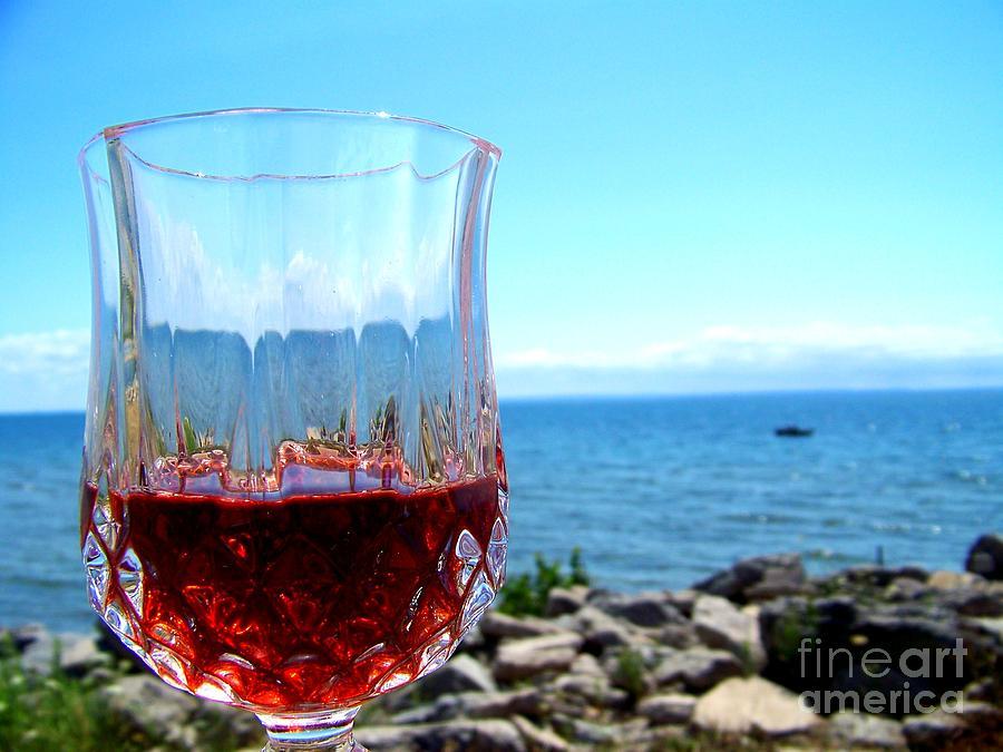 Wine Photograph - Wine By The Water by Deborah MacQuarrie-Selib
