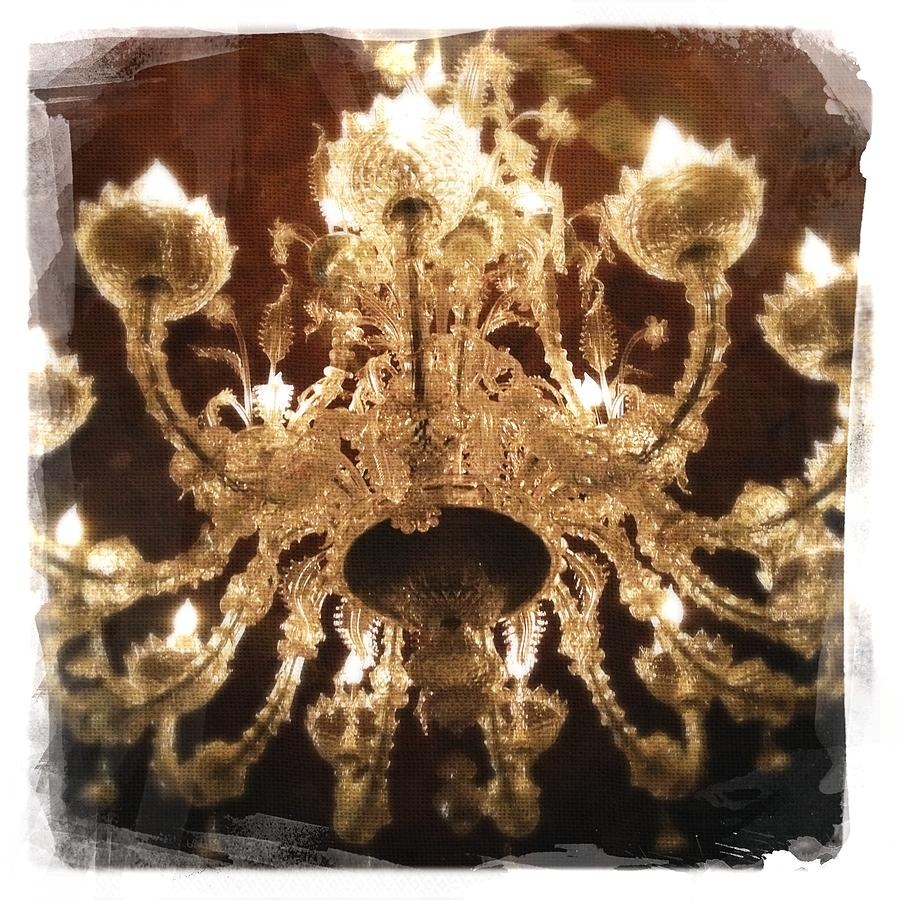 Napa Valley Photograph - Wine Cave Chandelier II by Penelope Moore