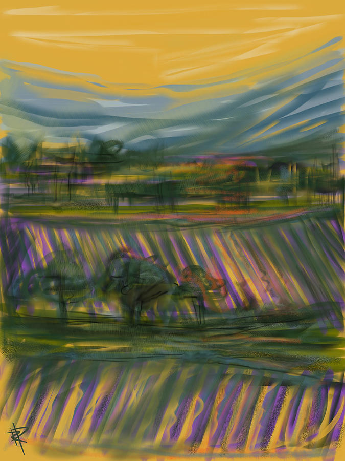 Wine Mixed Media - Wine Country by Russell Pierce
