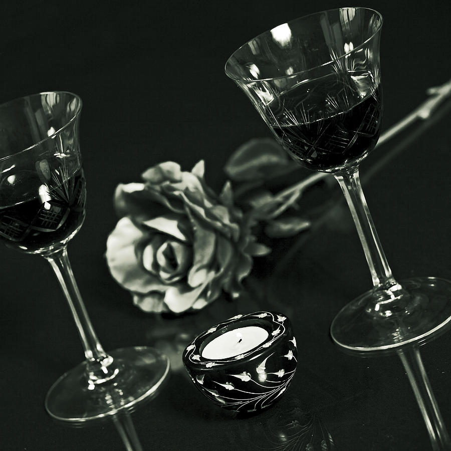 Glass Photograph - Wine For Two by Joana Kruse