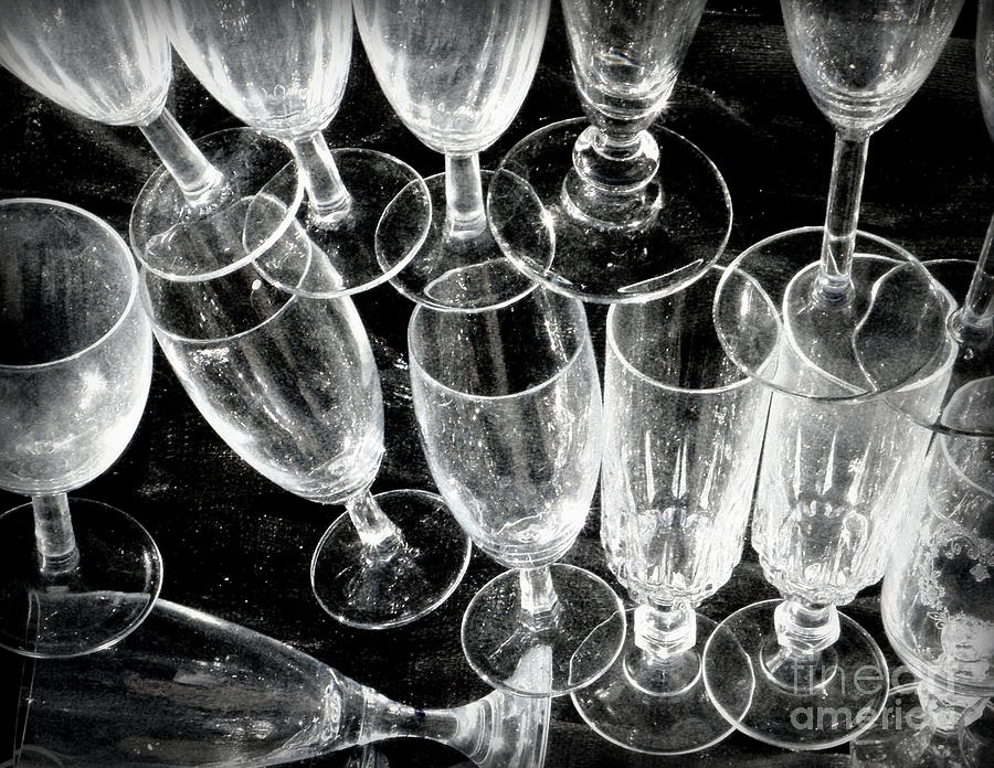 Glass Photograph - Wine Glasses by Lainie Wrightson