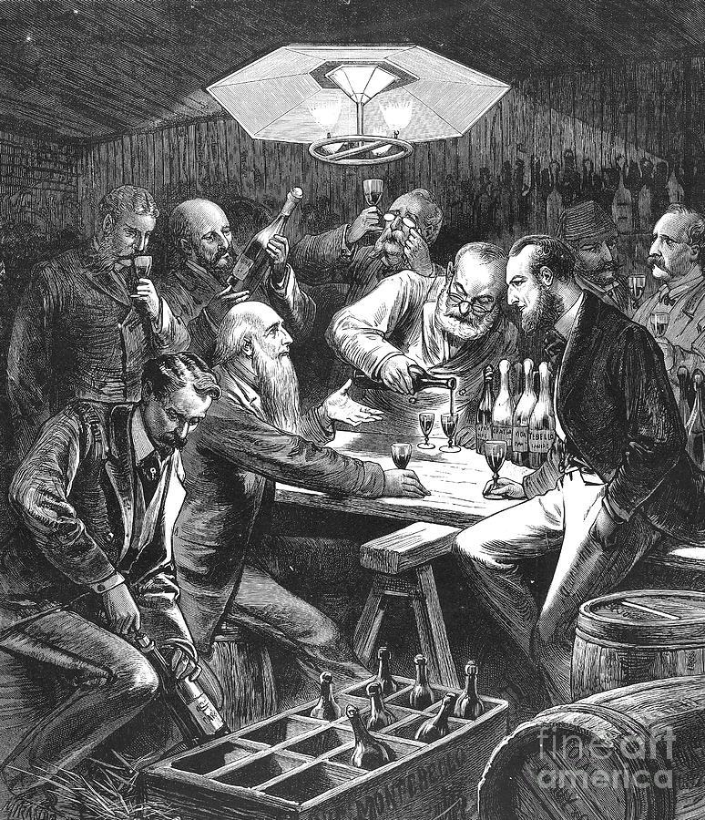 1876 Photograph - Wine Tasting, 1876 by Granger