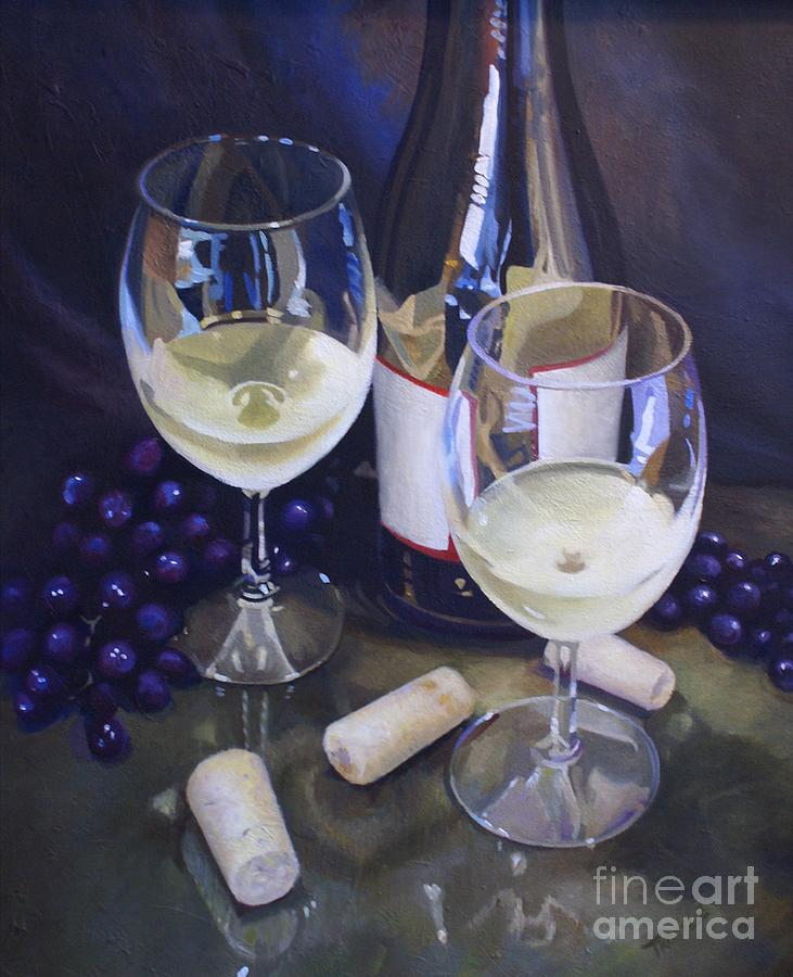 Wine Themed Home Decor: Wine Theme Print Wall Art Room Decor Painting By Patti Trostle