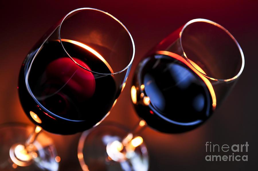 Wine Photograph - Wineglasses by Elena Elisseeva