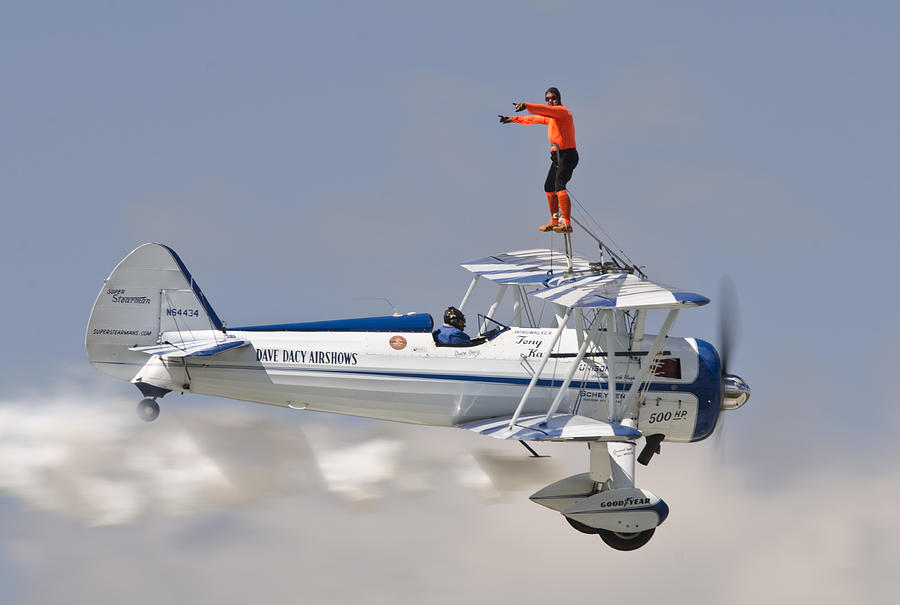 Wing Walking Photograph - Wing Walker by Eric Miller