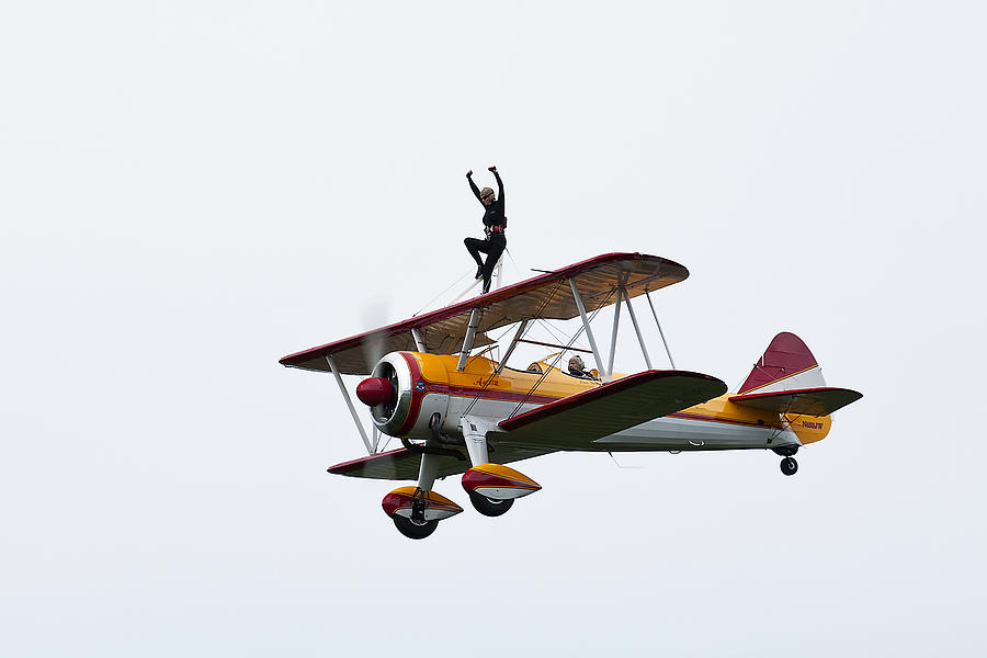 Airplane Photograph - Wing Walker by Sara Hudock