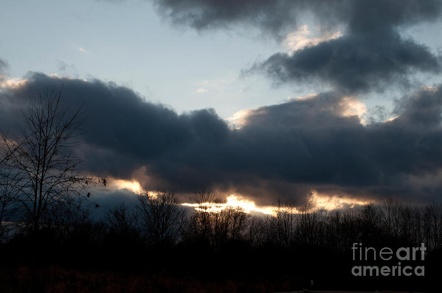 Sky Photograph - Winter Afternoon Clouds by Gary Chapple