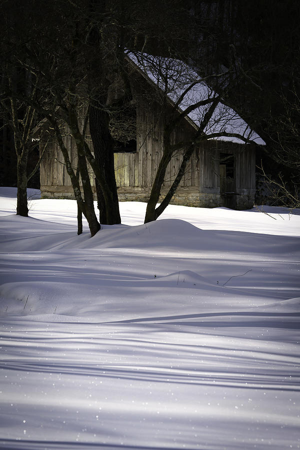 Barn Photograph - Winter Barn by Rob Travis