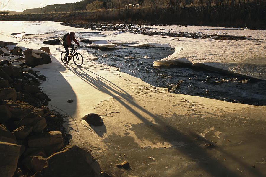 North America Photograph - Winter Bicycling On The Partially by Kate Thompson