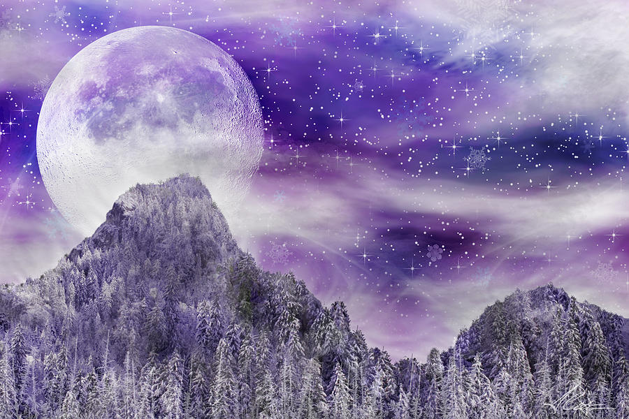 Moon Digital Art - Winter Dreamscape by Anthony Citro