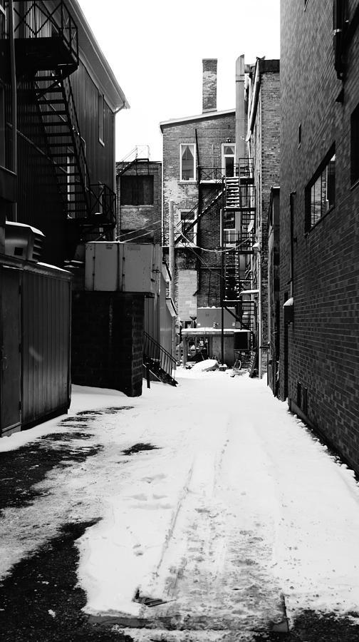 Alley Photograph - Winter Escape by Jonathan Bateman