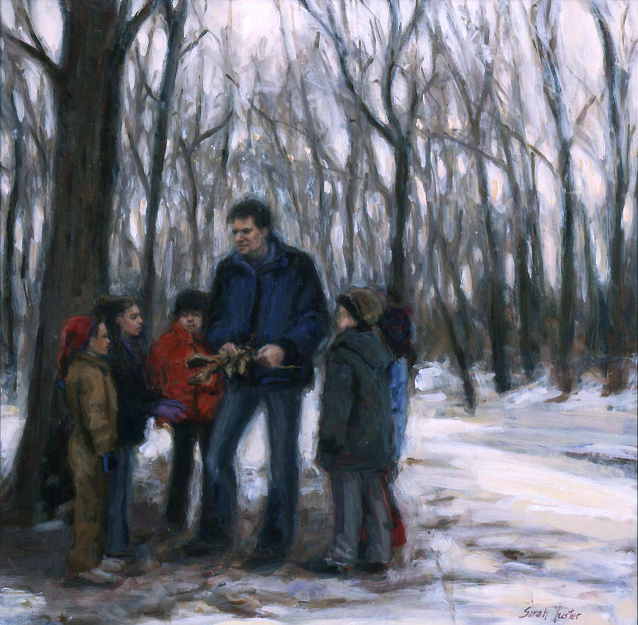 Winter Painting - Winter Explorers by Sarah Yuster