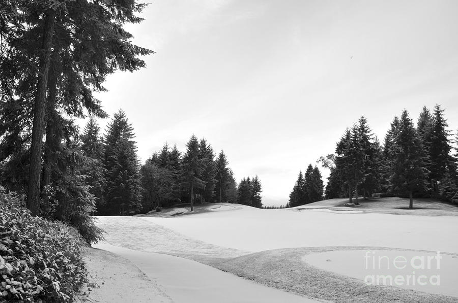 Golf Photograph - Winter Golf Course  2 by Tanya  Searcy