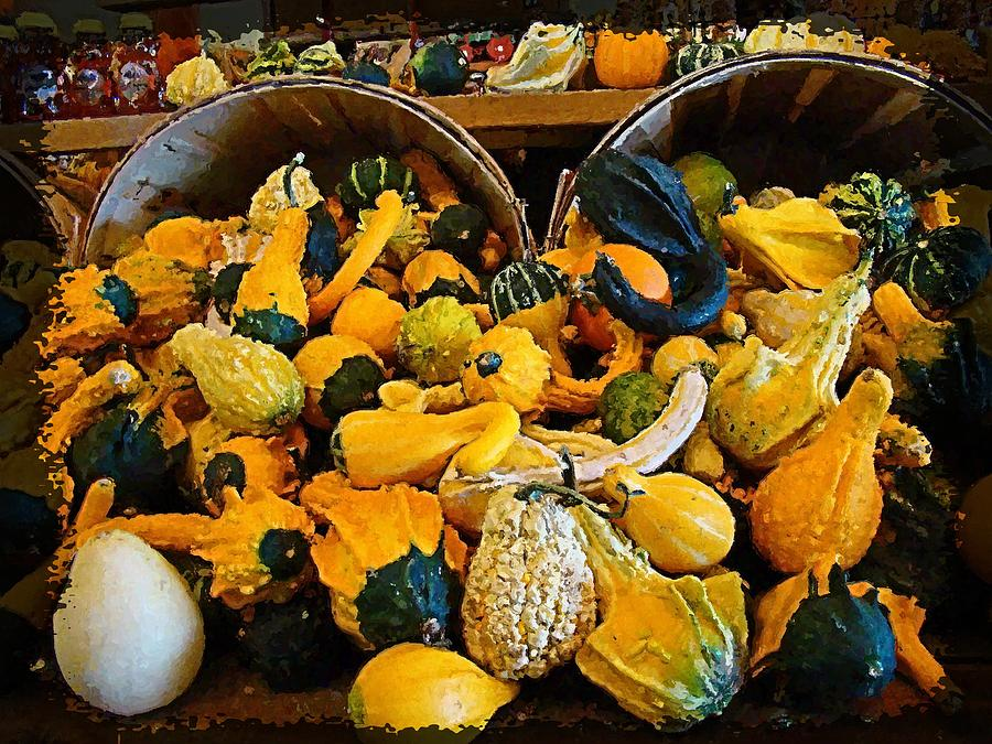 Gourds Photograph - Winter Gourds  by Nick Kloepping
