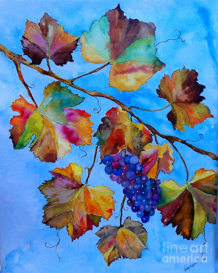 Grapes Painting - Winter Grapes by Fred Meehan