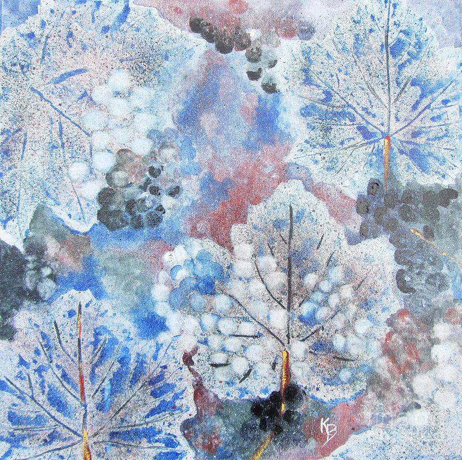 Winter Painting - Winter Grapes I by Karen Fleschler