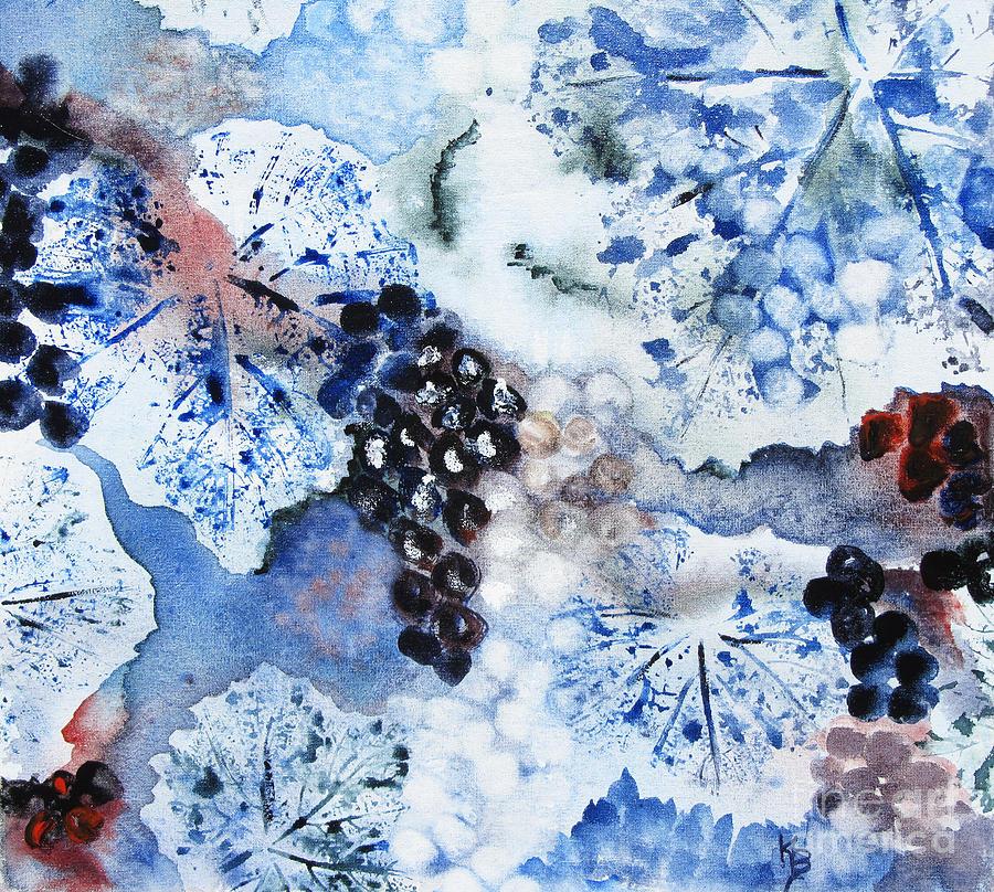 Winter Painting - Winter Grapes IIi by Karen Fleschler