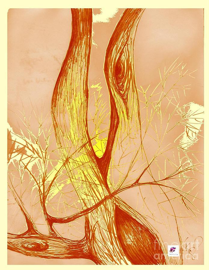 Tree Drawing - Winter Greenlake Tree 3 by Carol Rashawnna Williams