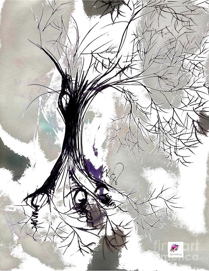 Tree Drawing - Winter Greenlake Tree by Carol Rashawnna Williams