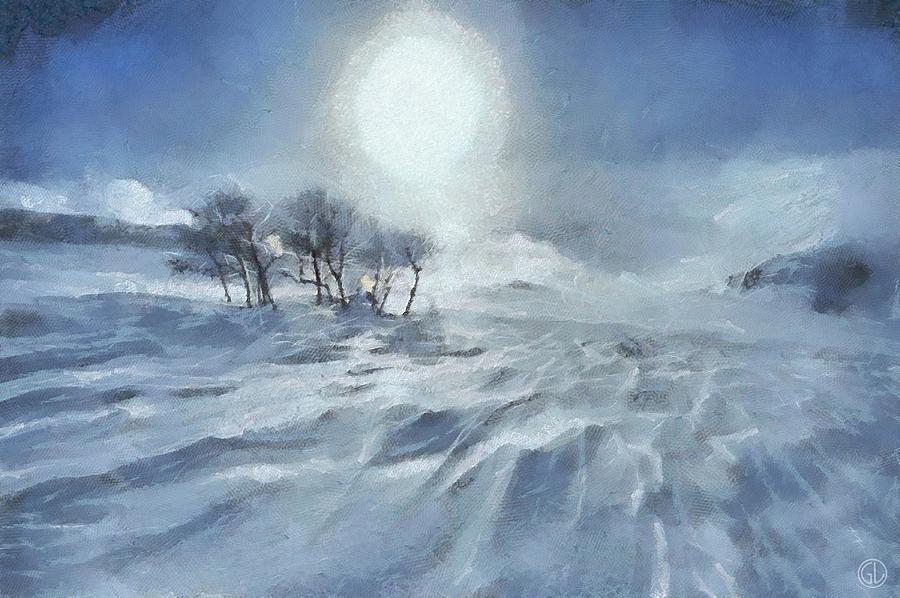 Landscape Digital Art - Winter by Gun Legler