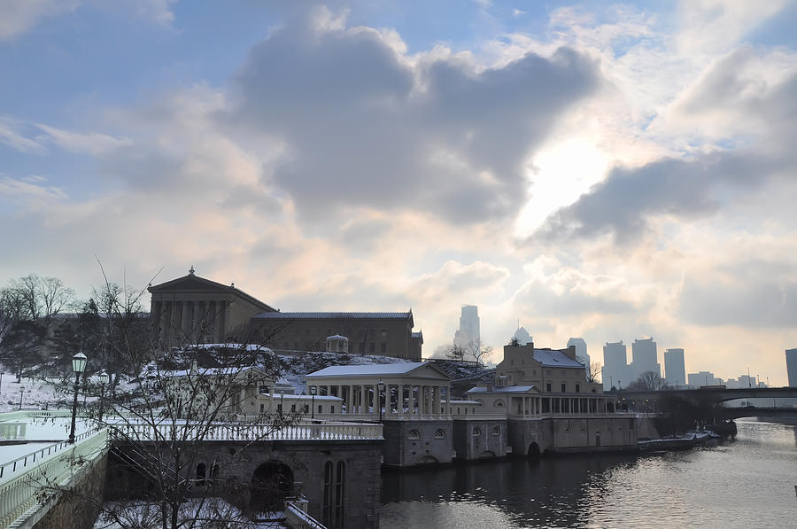 Museum Photograph - Winter In Philly by Bill Cannon