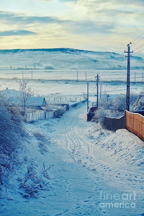 Snow Photograph - Winter In Romanian Countryside by Gabriela Insuratelu