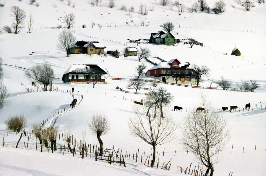Architecture Photograph - Winter In The Village by Emanuel Tanjala