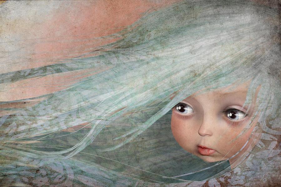 Little Girl Digital Art - Winter by Jessica Von Braun