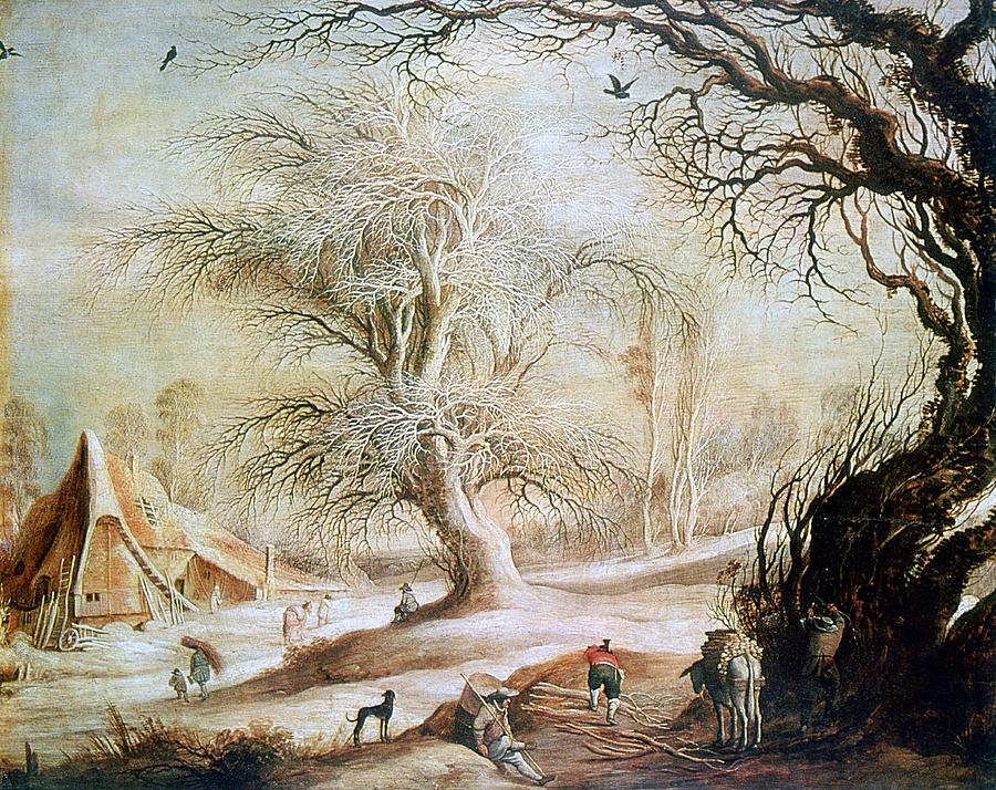 Horizontal Photograph - winter Landscape, 17th Century, Painting by Photos.com
