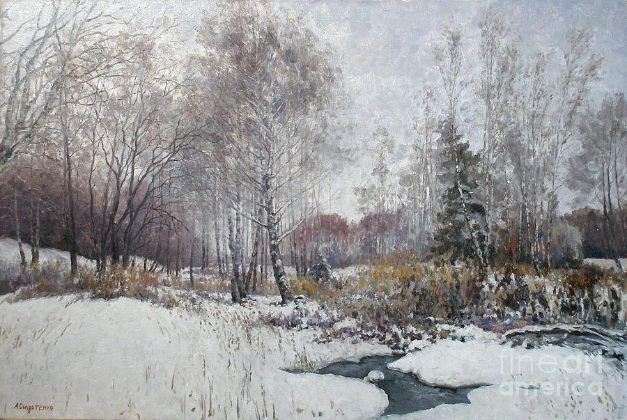 Winter Painting - Winter Landscape by Andrey Soldatenko