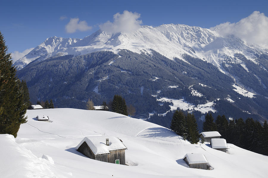 Winter Photograph - Winter Landscape In The Mountains by Matthias Hauser