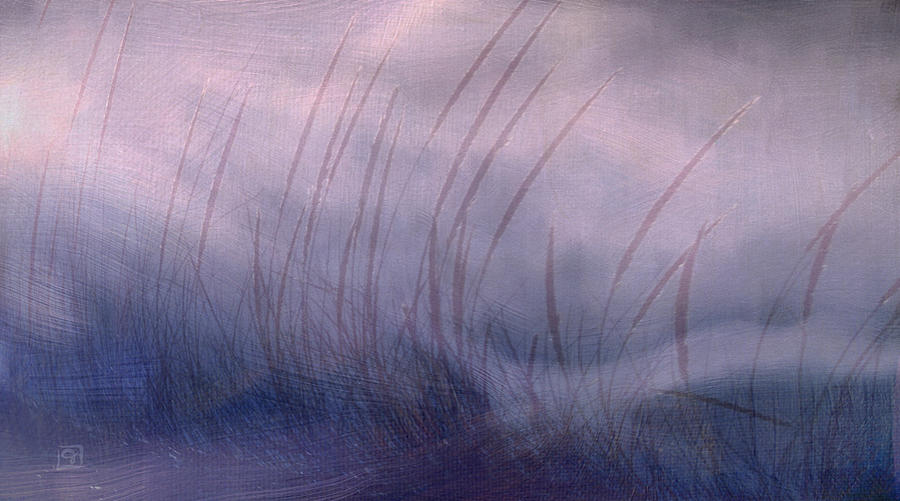 Landscape Painting - Winter Long Grass by Jean Moore