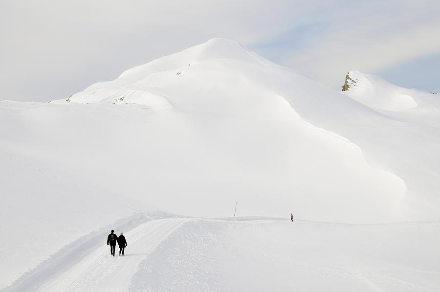 Winter Photograph - Winter Mountain Landscape With Lots Of Snow by Matthias Hauser