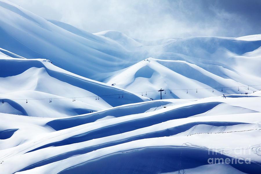 Activity Photograph - Winter Mountain Ski Resort by Anna Om