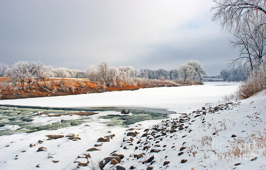 Red River Photograph - Winter Red River 2012 by Steve Augustin