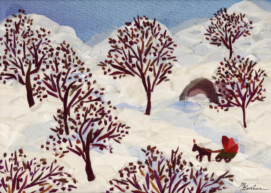 Winter Tapestry - Textile - Winter Ride by Marina Gershman