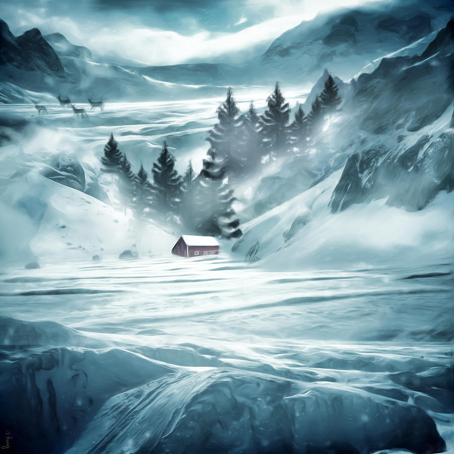 Winter Seclusion Digital Art by Lourry Legarde